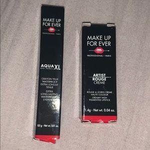 MakeUp Forever Samples (eyeliner & lipstick)